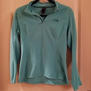 NORTH FACE 1/4 Zip Tirquoise Pullover Sz XS